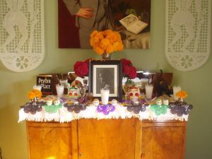Day of the Dead altar by Michael William Parker Stainback in honor of his mother Suzanne